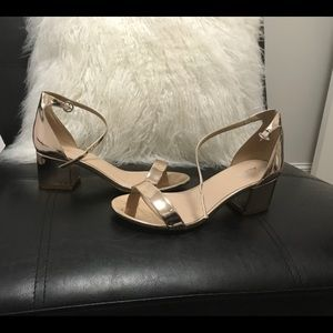 Rose Gold patent Aldo sandals **cute**